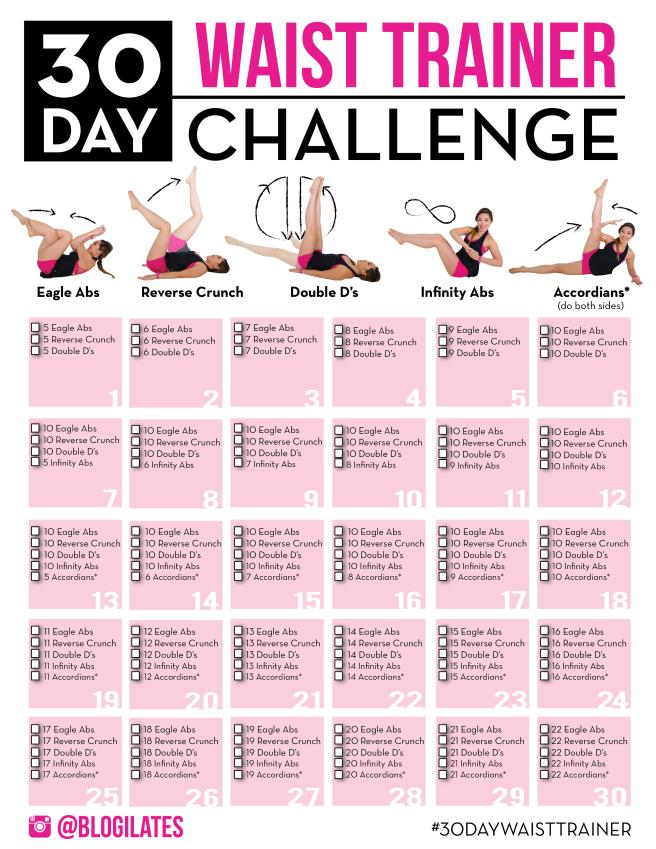 wyzwania na zaznaczone mięśnie